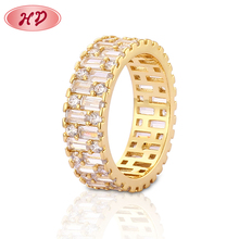 Free Sample New Model 18K Engagement Diamond Ring Jewelry For Girls