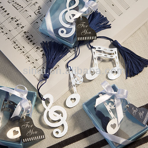 Musical Note Bookmark Favors for Wedding