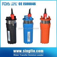 Singflo 12v 24v 6L/ min solar powered submersible water pumps / price solar water pump for agriculture