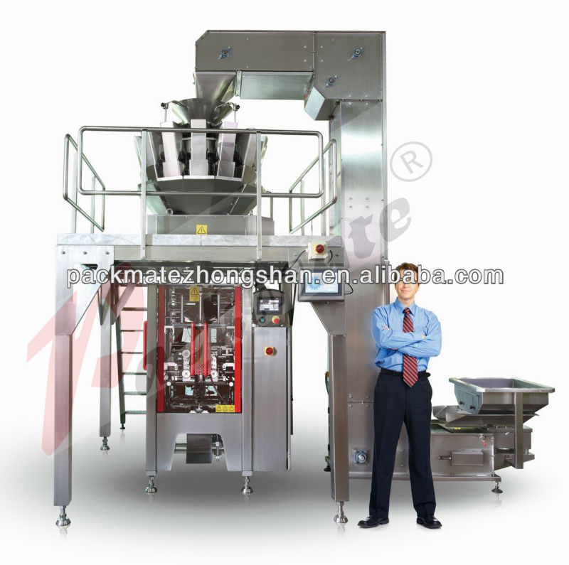 vertical form fill seal weighing and bagging machine