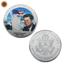Manufacture The 35th President Of US John F.Kennedy 1961-1963 Coin Gold Silver Plated Bitcoin Coin Design Custom Challenge Coin