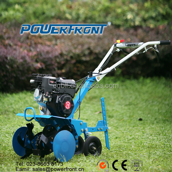 PF600 agricultural machinery recoil start hand push mini power rotary tiller cultivator