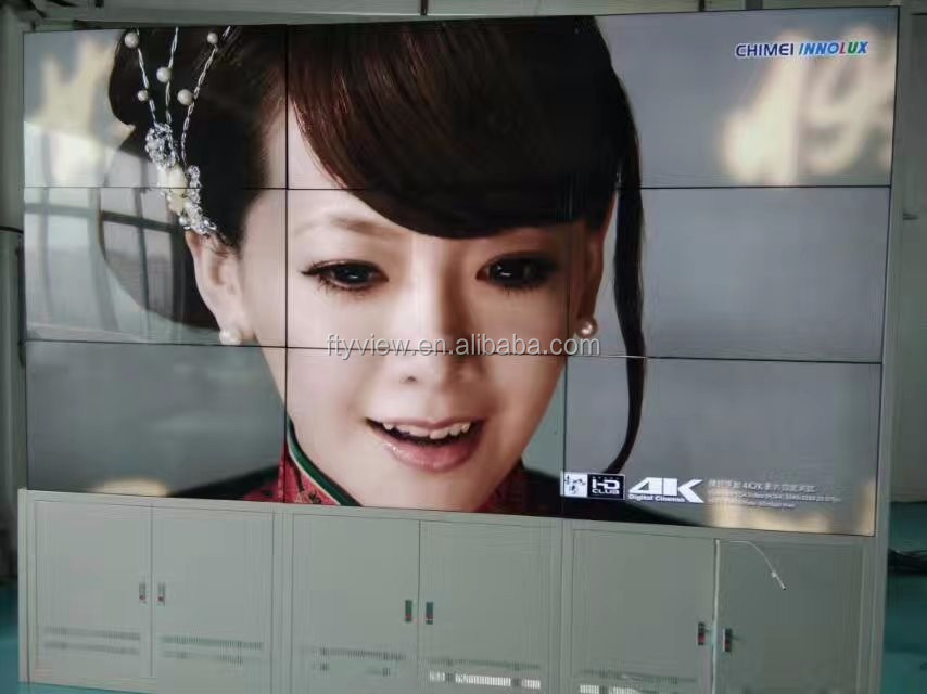ultra narrow bezel 55 inch samsung 4k resolution lcd video wall with 5.3mm