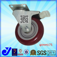 JY-303| Industrial 3 inch Diameter Moldon Rubber Wheel Rigid and Swivel Caster