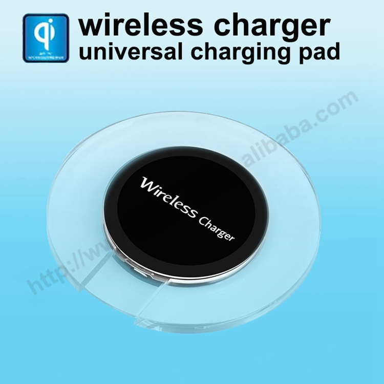 Factory wholesale QI wireless charger Unversal charigng pad plate Mobile phone charger mat for S6 edge HTC nokia charger for LG