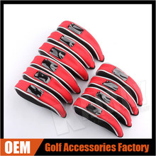 Wholesale PVC Window Mesh Iron Golf Headcover 10 PCS / Set (3 Color)