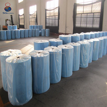 Alibaba China hot sale 45gsm blue non woven hospital gown fabric