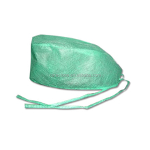 disposable green color surgical hats men with good quality