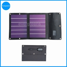 6W folding amorphous solar charger, 6v small solar panel