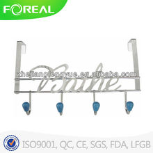 color ceramic ball metal door hook rack