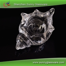 Innovative crystal clear conch design glass candle jars wholesale