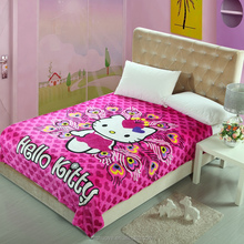 2017 New Design 100% Polyester Cartoon Blanket For Children