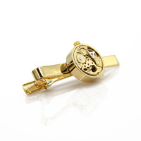 Custom gold plating jewelry main material watch tie clips for men