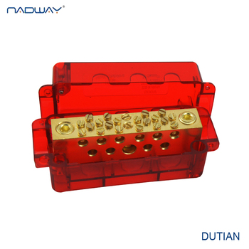 AU standard neutral links plastic cover terminal block brass bar