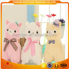 Bestdan mascot wholesale directly lovely cute plush toy sheep with beautiful hat