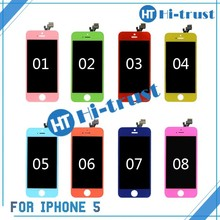 HOT SALE! colourful Rose Red factory price for iphone 5 lcd touch screen with digitizer assembly