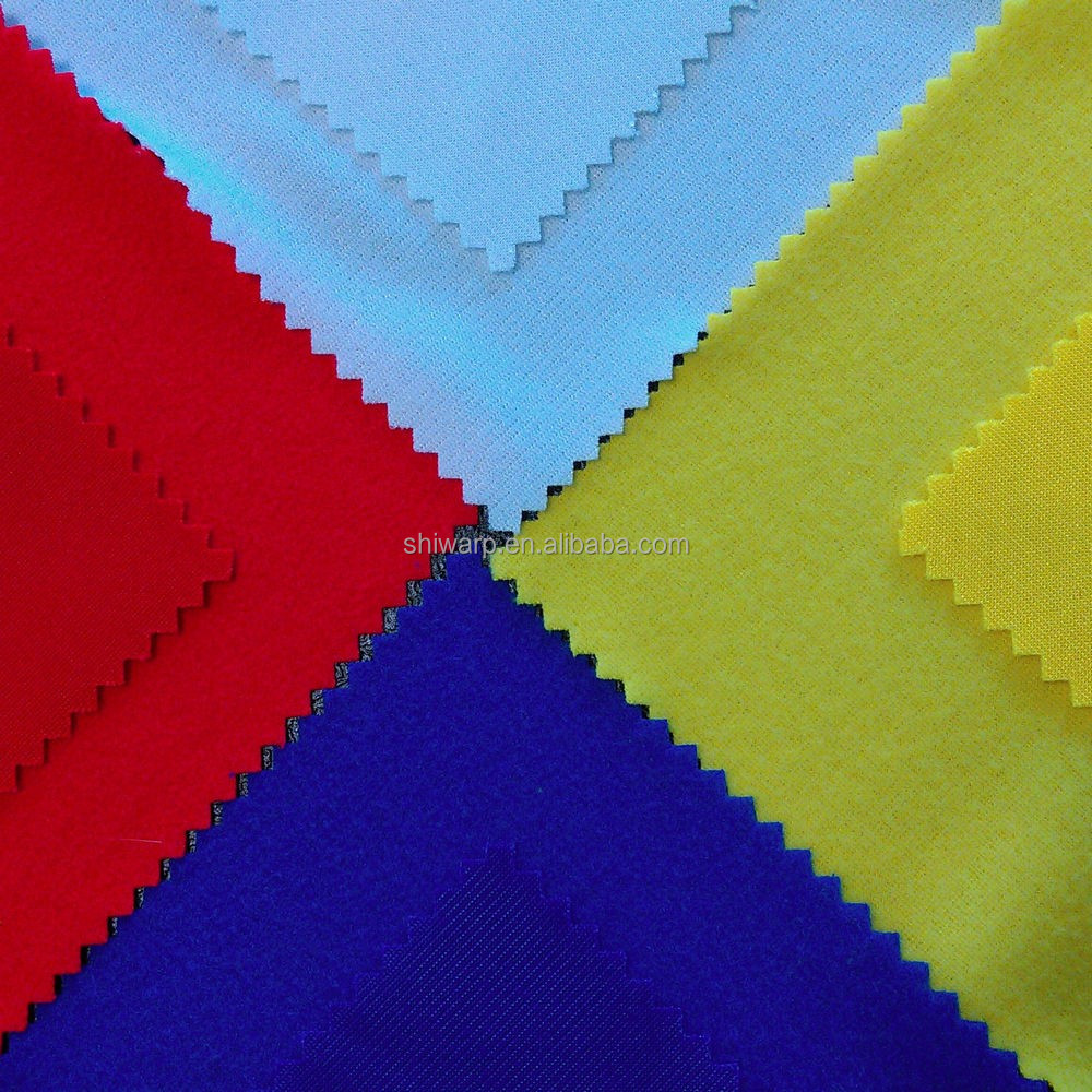 Waterproof super poly tricot brushed fabric shipping from China
