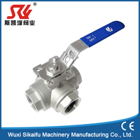 New design china manufacture mini thread stainless steel ball valve chinese