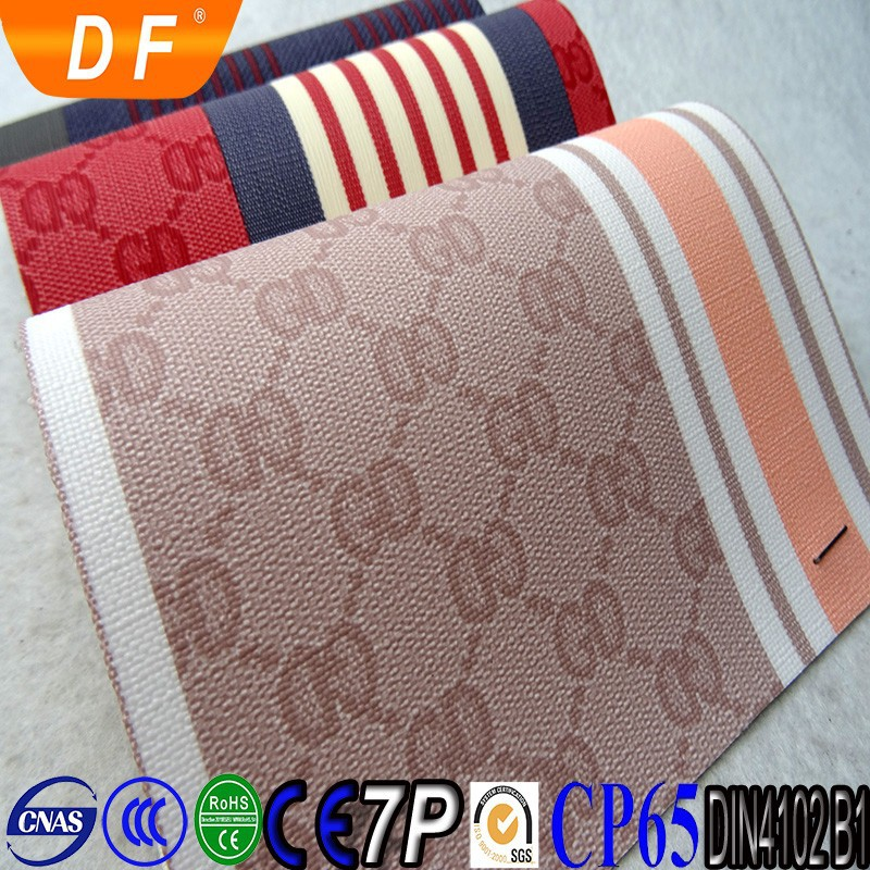 Fashion leather materials to make sandals PVC leather stocklots
