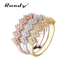 Hot 2016 Silver Gold And Rose Gold CZ Rings For Men And Women