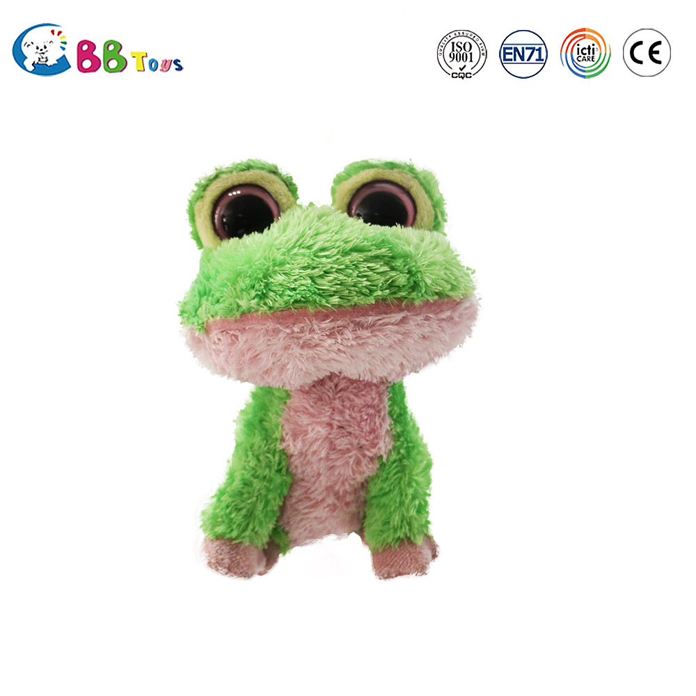 Soft Plush Toy Green Frog Dog Toy