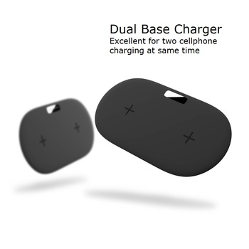 2018 NEW Smart Phone Wireless Charger Dual Wireless Charge Base QXTC Intelligent Wireless Charging