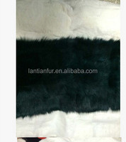 popular cheap price colorful dyed fox scrap fur plate for garment and rug