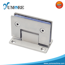 Stainless steel wall mounted glass shower door clamp hinges rail