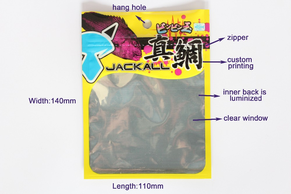 Resealable Metalized Zipper Plastic Pouch
