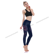 Sports fitness wear aeolian bells print leggings fitness tamil girls in leggings