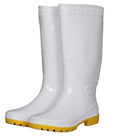 PVC White Work Rain Boots Food Boots,Safety Boots In Food Industry