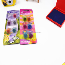 Lovely Mini Kids Toy Inking Finger Ring Stamp