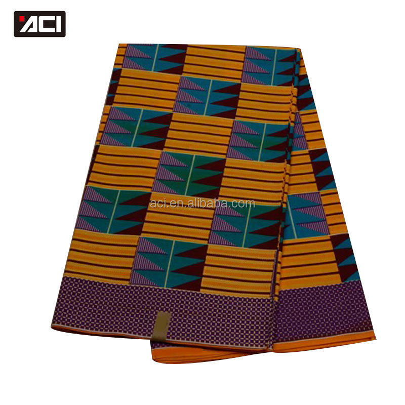 ACI Ghanaian Veritable Real Wax Fabric Fashional 100% Cotton Quality 6 Yards Ghana Kente