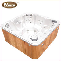 2016 Outdoor indoor acrylic whirlpool free standing balboa hot tubs spas made in China with sex massage