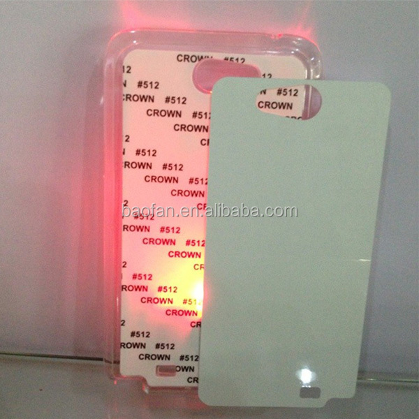Sublimation Phone Case with LED light for samsung Note 2
