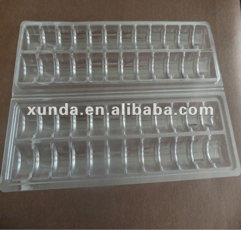 plastic macaron clamshell packaging