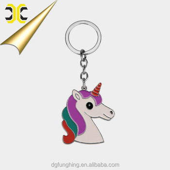 Customize Animal metal unicorn keychain