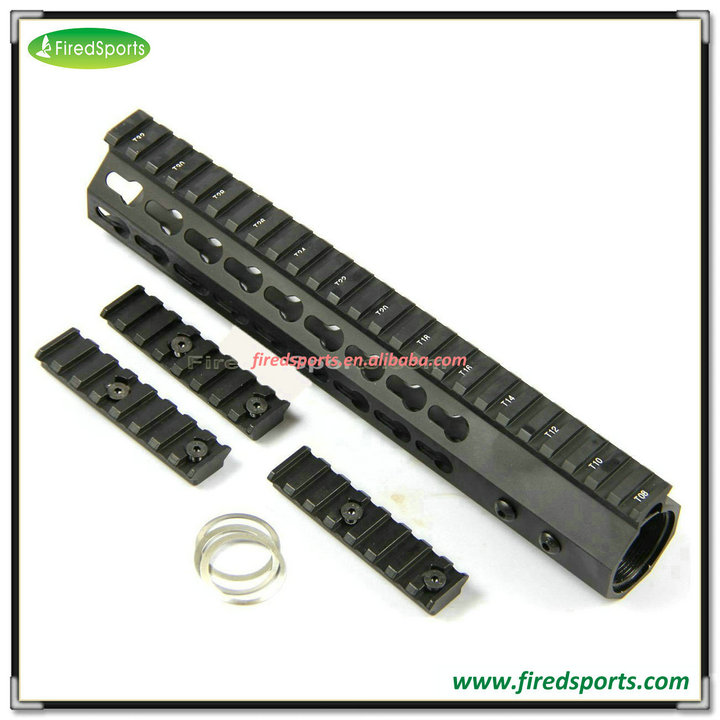 MTS0102-10--The accessories 10 inch Slim Keymod free float handguard Rail For AR15 M4
