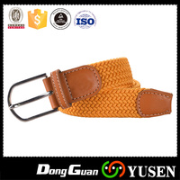 Men's Polyester Custom Pure Yellow Woven Belt