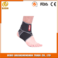 Neoprene adjustable with elastic velcro ankle stabilizer brace
