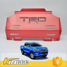 2015 2016 Hilux Revo Steel Bash Plates Skid Plate For TRD Hilux 4x4 Sump Bash Guard