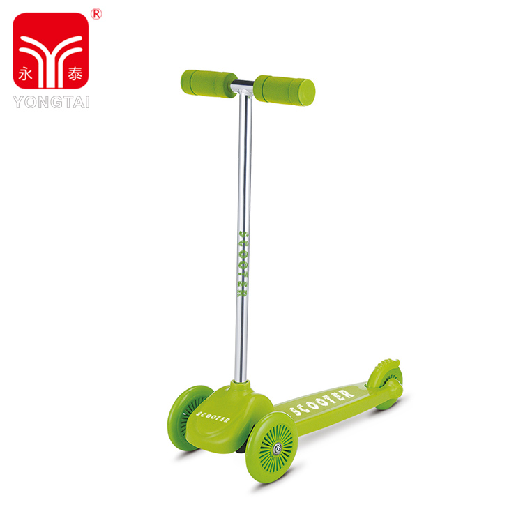 Logo Customized Green 3 Wheels Kids Scooter, Kick Balance Scooter With PVC Wheel