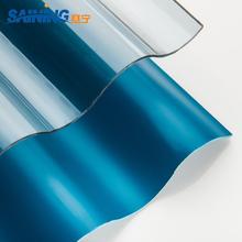 Transparent corrugated polycarbonate sheet roofing/building material
