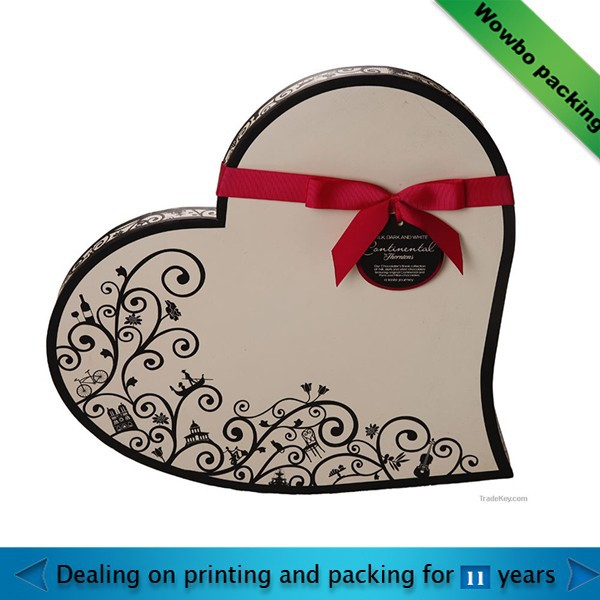 fancy cardboard paper heart shaped personized gift box supplier in shanghai