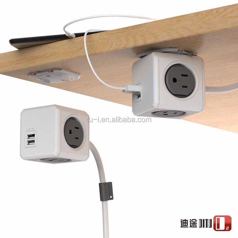 Allocacoc PowerCube Retractable Power Strip With USB Charging Port  Multipurpose Creative PowerCube Usb