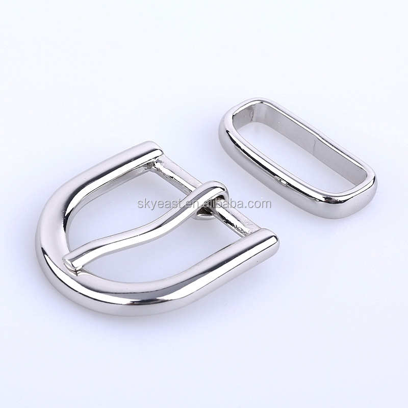 Fashion High Polished Shiny Nickel Belt Pin Buckles Manufacturers
