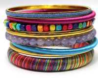 Unique Sales Gift Ideas Yougn Girl Handmade Trendy Jewelry Bohemian Bangle Set