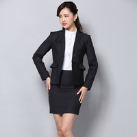 China Office Women Skirt Suit Business Work Uniform Suit for Lady