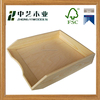 Wooden crafts FSC unfinished handmade A4 paper plain wood desk organiser wooden paper tray