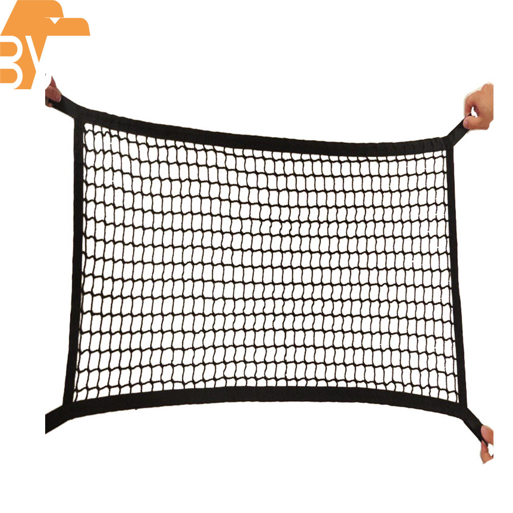 Nylon Van/roof rack/Trailer/Truck Bed Barrier Net Customized Elastic Trunk Cargo Net